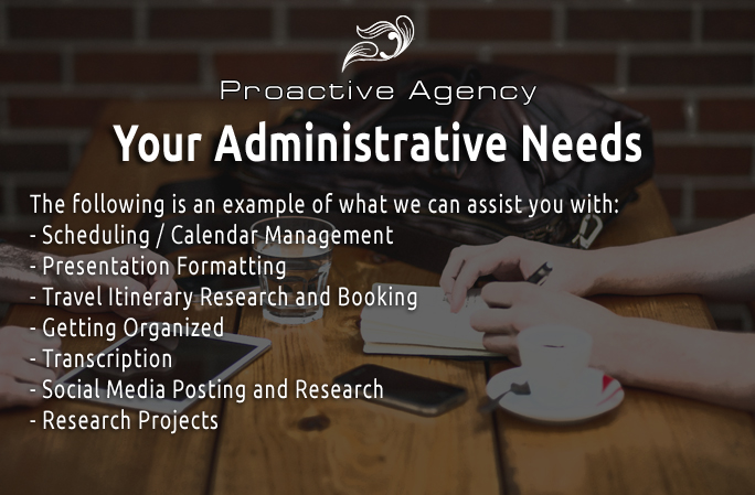 Your Administrative Needs